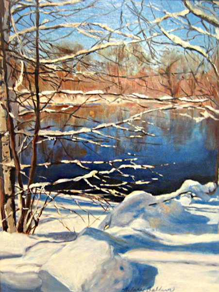 Hilary Baldwin Painting of Snow
