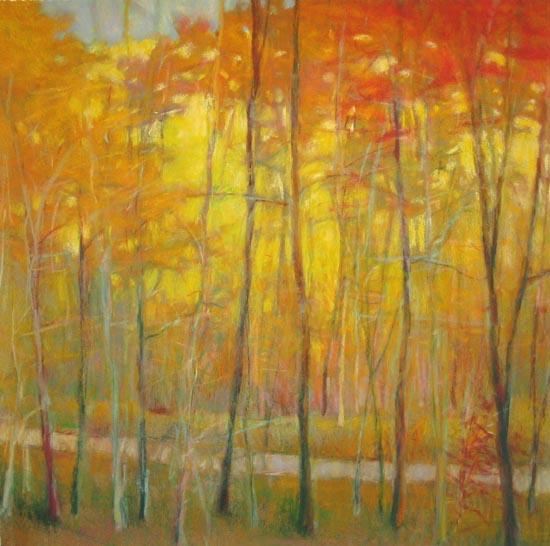 Ken Elliott - Yellows at the Creek Left (28x28 giclee)