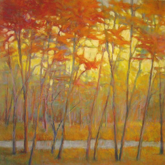 Ken Elliott - Yellows at the Creek Right (28x28 giclee)