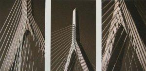 Vivian Avery - Zakim Bridge sepia black and white Boston architecture photographs
