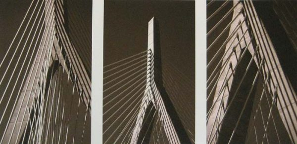 Vivian Avery - Zakim Bridge sepia black and white Boston architecture photographs