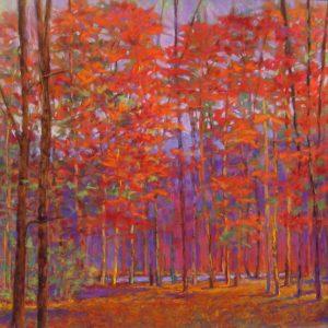 Ken Elliott - Cherry Red Forest (28x28 giclee)