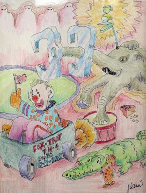 Jerry Garcia - Foxtrot Romeo Crybaby Circus - hand signed limited edition print