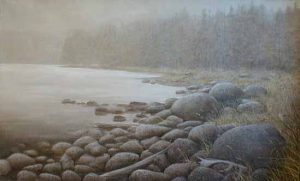 Misty Cove (29x47 oil on canvas)