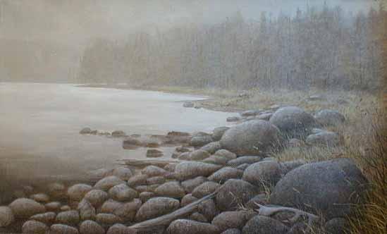 Misty Cove (29x47 oil on canvas)