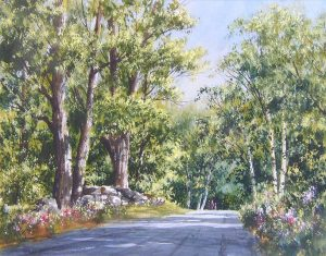 Summer Road (15x19 watercolor)