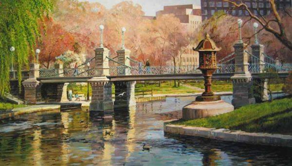 Frederick Kubitz - Spring Reflections Boston Public Garden