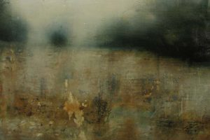 Vincent George Aphonic Weald abstract landscape (24x36 oil painting on paper)