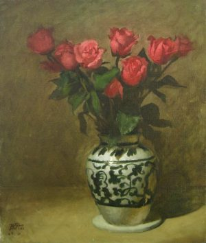 Roses (19x16 oil on canvas)