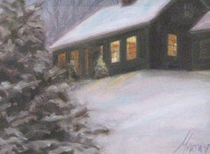 Winter Twilight (9x12 oil on canvas)