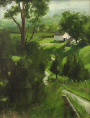 Farm in Spring (18x14 oil on canvas)