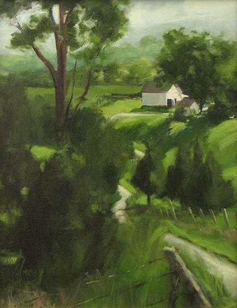 Farm in Spring (18x14 oil on canvas)