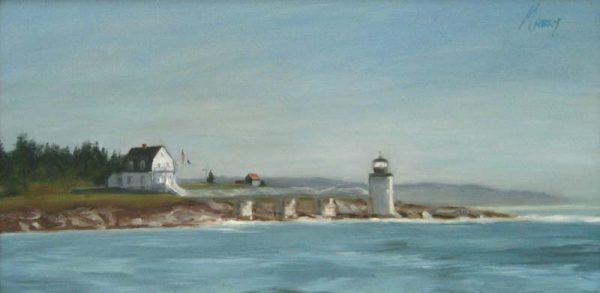 Marshall Point Light (15x30 oil on canvas)