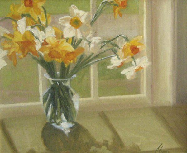 Daffodil Patterns (16x20 oil on canvas)