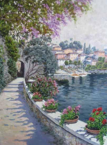 Antonio Sannino Promenade oil painting on canvas