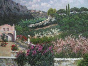 Antonio Sannino Tuscan Hills Villa oil painting on canvas