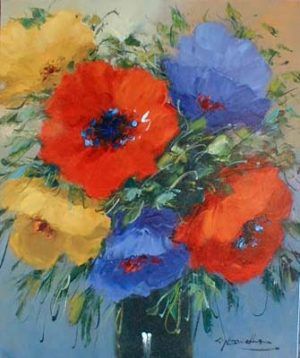 Christian Nesvadba Colorful Bouquet (oil painting on canvas)