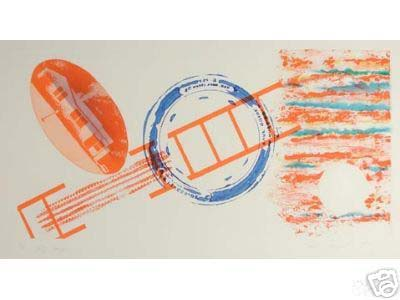 James Rosenquist - Cliff Hanger (23x30 etching on paper)