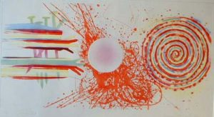 James Rosenquist - Rouge Pad (21x37 etching on paper)