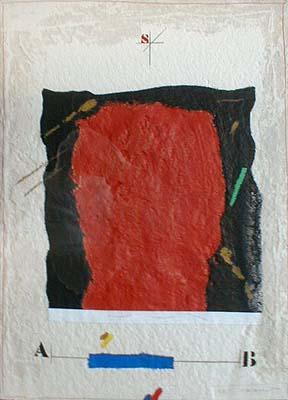 James Coignard Etude Masse Rouge (26x19 carborundum engraving etching)