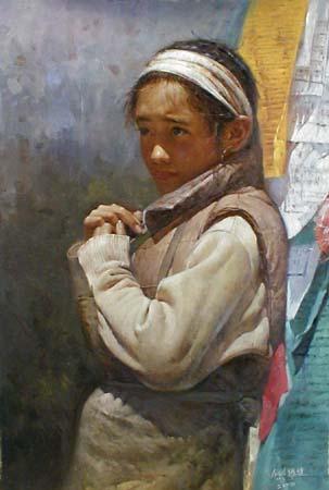 Prayer Flag (36x24 oil on canvas)