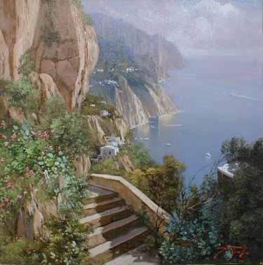 Amalfi (16x16 oil on canvas)