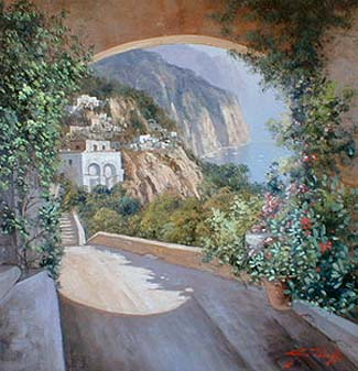 Archway (16x16 oil on canvas)