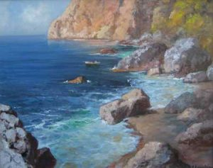 Vincenzo Laricchia Rocky Inlet (16x20 oil painting on canvas)