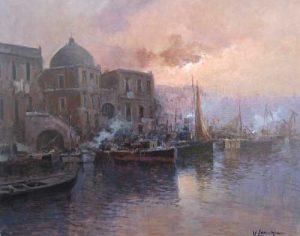 Vincenzo Laricchia Venice at Dusk (16x20 oil painting on canvas)