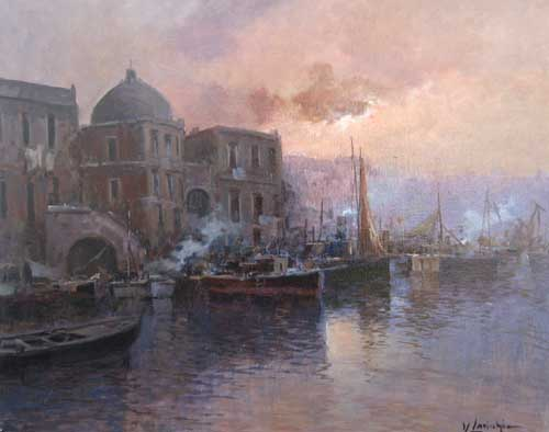 Vincenzo Laricchia Venice at Dusk (16x20 oil painting on canvas)