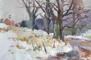 Winterfest (15x22 watercolor)