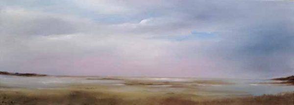 Anne Garton Summer Afternoon - Fort Hill (10x30 oil painting on canvas)