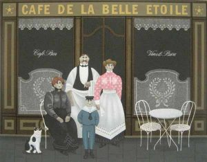 Jan Balet - Cafe de la Belle Etoile (20x25 lithograph on paper)