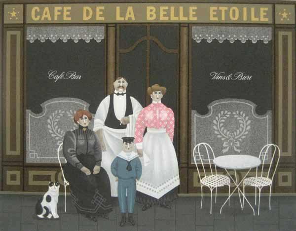 Jan Balet - Cafe de la Belle Etoile (20x25 lithograph on paper)