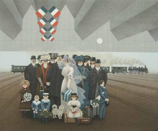 Jan Balet - Honeymoon (22x30 lithograph on paper)