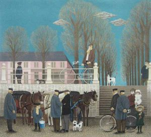 Jan Balet Market Day (29x32 lithograph on paper)