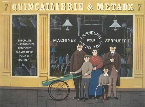 Jan Balet - Quincaillerie & Metaux (20x26 lithograph on paper)