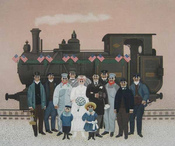 Jan Balet - Union Pacific (21x26 lithograph on paper)