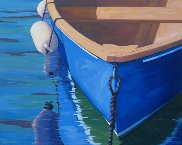 Blue Reflections (24x30 acrylic on canvas)