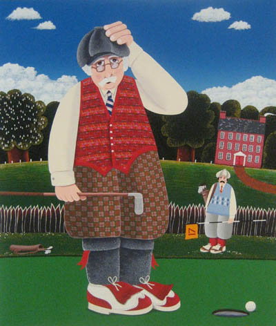 Peter Heard Another Missed Tiddler! (serigraph/paper 33x28)