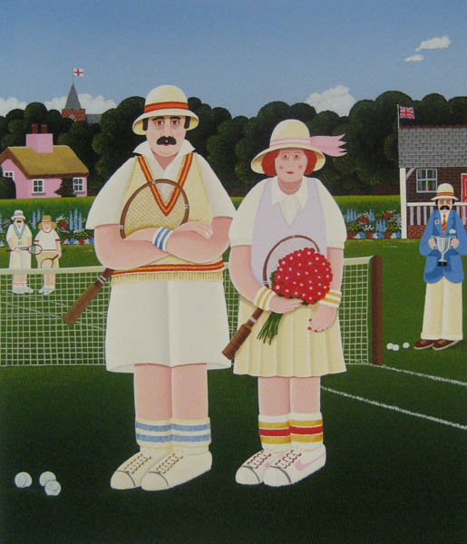 Peter Heard Mixed Doubles (serigraph/paper 33x28)