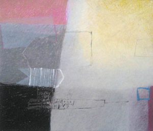 Francoise Julien geometric abstract pastel painting