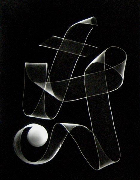 Peter Dreyer - Ribbon Photogram #1 (14x11 Photograph)