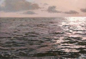 Navarro Montllor Seascape (9x13 oil painting on canvas)