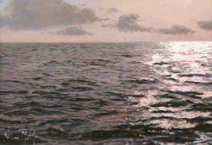 Navarro Montllor Seascape (9x13 oil painting on canvas)