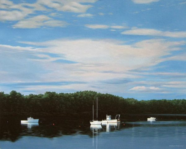 Calm Lake (24x30 oil on canvas)
