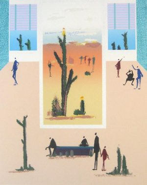 Life of a Cactus (37x30 serigraph)