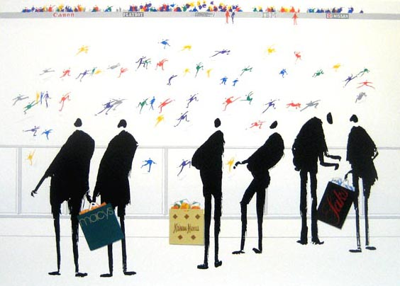 Shoppers (33x42 serigraph)