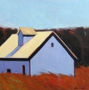 Barn with Dormer (30x30 acrylic on canvas)