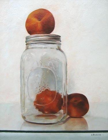 A Peachy Trio (18x14 oil on board)